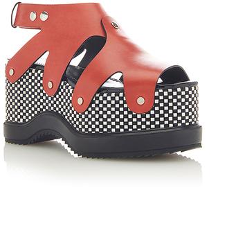 Proenza Schouler Leather Platform Sandals $1,050 thestylecure.com