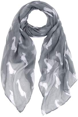 MissShorthair Lightweight Women Scarves Dachshund Dog Print Animal Scarf Shawl Wrap