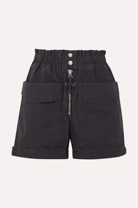 Etoile Isabel Marant Lizy Cotton-canvas Shorts - Black