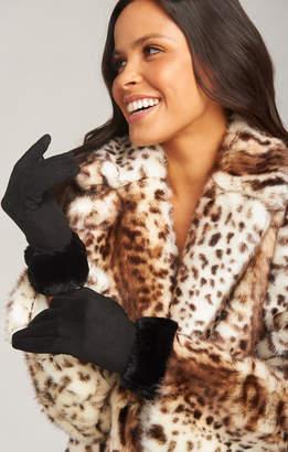 Show Me Your Mumu Smart Touch Faux Suede Gloves ~ Black