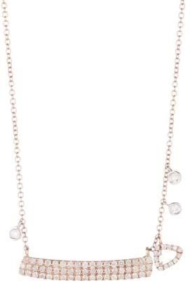 Meira T 14K Rose Gold White Topaz & Diamond Charm Necklace