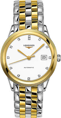 Longines L4.874.3.27.7 La Grande Classique stainless steel, diamond and yellow-gold watch