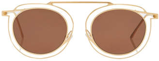 Thierry Lasry Potentially Gold & Brown
