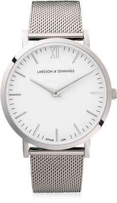 Larsson & Jennings Lugano 40mm Silver & White Watch