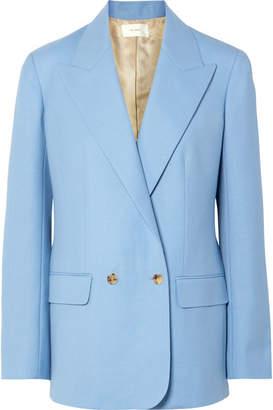 The Row Pesner Oversized Grain De Poudre Wool Blazer - Light blue