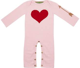 Amber Hagen Infants' Heart & Arrow Intarsia Coverall