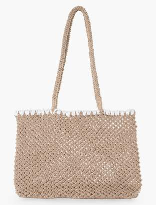 Embroidered Crochet Tote