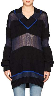 Maison Margiela Women's Colorblocked Multi-Knit Cotton-Blend Sweater