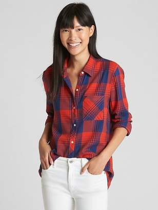 Gap Plaid Flannel Boyfriend Shirt
