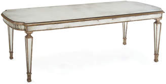 "John-Richard Collection Eliza 96""L Antiqued Mirrored Dining Table"