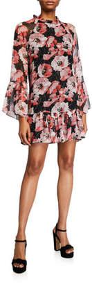 MISA Los Angeles Blythe Floral-Print Ruffle Dress