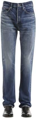 Balenciaga 21cm Stone Washed Cotton Denim Jeans