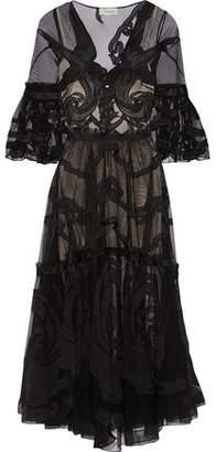 Temperley London Appliqud Tulle Dress