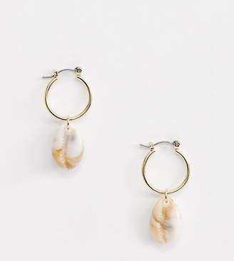 c62af81e5 Liars & Lovers gold hoop resin shell drop earrings