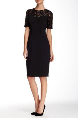 Adrianna Papell - Lace Illusion Jewel Neck Stretch Dress 16260650 $342 thestylecure.com