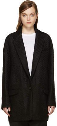 Isabel Marant Black Wool Ilaria Tweedy Coat