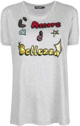 Dolce & Gabbana sequin slogan T-shirt