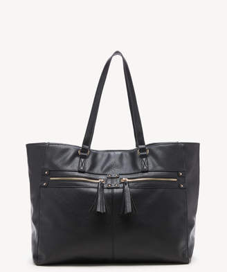 Sole Society Women's Zypa Tote 2 Vegan Leather Black From