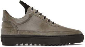 Filling Pieces Grey Thick Ripple Low Top Sneakers