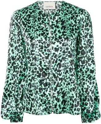 Laneus leopard print blouse