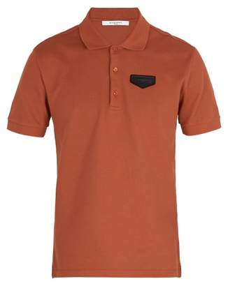 Givenchy Antigona Patch Polo Shirt - Mens - Orange