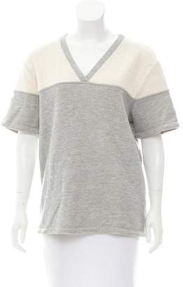 Alexander Wang V-Neck Short Sleeve Sweatshirt