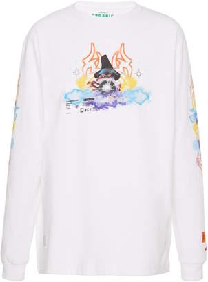 Heron Preston Tribal Wizard Long-Sleeve Cotton T-Shirt