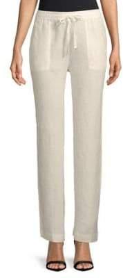 Saks Fifth Avenue Wide-Leg Linen Drawstring Pants