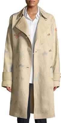 Lafayette 148 New York Laurita Modern Muse Linen Trench Coat