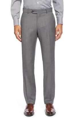 Ballin Flat Front Sharkskin Wool Trousers