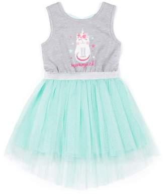 55894eaa8b Little Lass Caticorn Sparkle Tulle Dress (Little Girls)