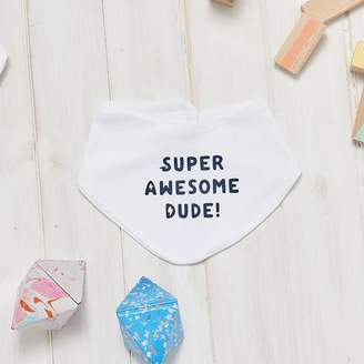 Owl & Otter Super Awesome Dude Baby Bib