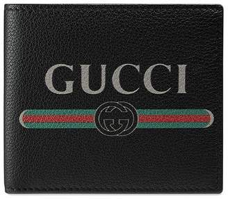 Gucci Print leather coin wallet