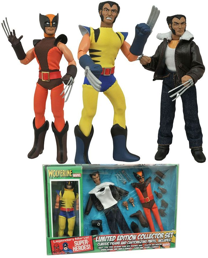 Diamond select toys Marvel Wolverine Retro Action Figure Set by Diamond Select Toys