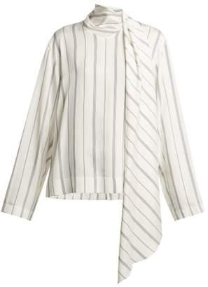 Joseph Cannon Striped Blouse - Womens - White Stripe