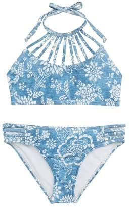 Billabong Indigo High Neck Two-Piece Swimsuit