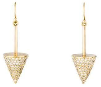 Jennifer Meyer 18K Diamond Spike Drop Earring