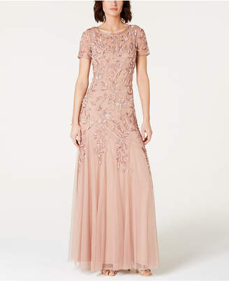 8f75c05dd03c Adrianna Papell Floral-Beaded Gown