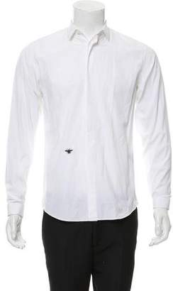 Christian Dior Bee-Embroidered Button-Up Shirt