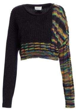 3.1 Phillip Lim Space Dye Cropped Wool Pullover