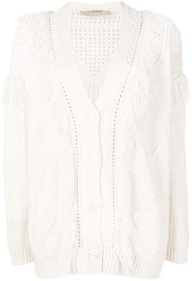 Twin-Set fringed hem cardigan