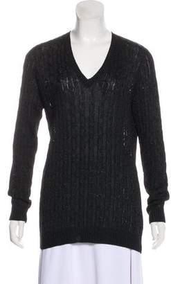 Ralph Lauren Black Label Knitted V-Neck Sweater