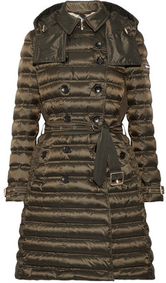 Burberry - Quilted Shell Down Coat - Army green $1,195 thestylecure.com