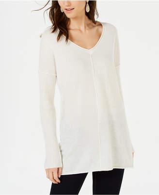 INC International Concepts I.n.c. Ribbed Long-Sleeve Tunic Sweater