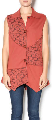 Parsley & Sage Floral Rust Vest