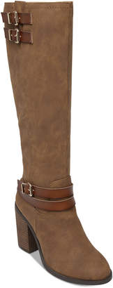 Madden-Girl Edrea Wide Calf Block-Heel Boots