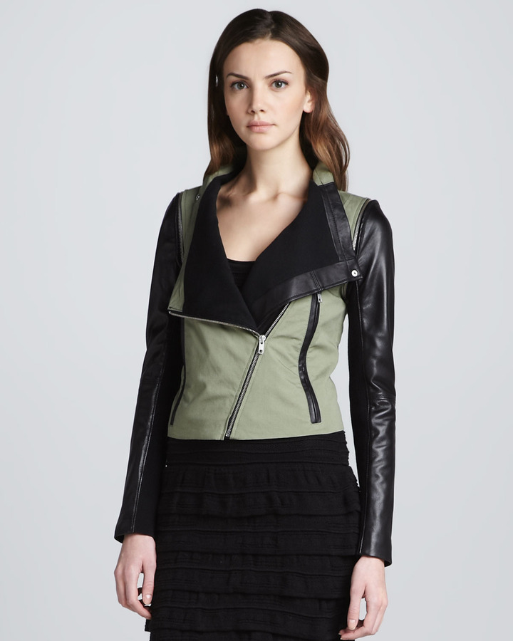 Cut25 Detachable-Sleeve Jacket, Green