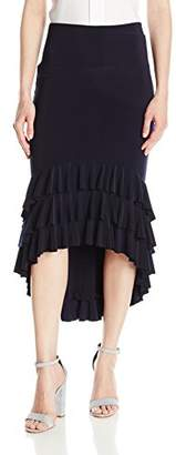 Norma Kamali Women's Ruffle Rhumba Skirt