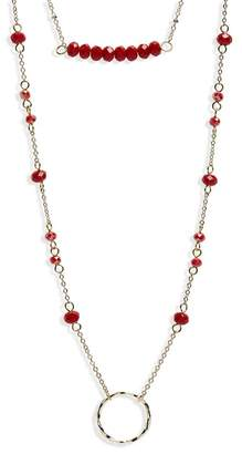 Panacea Crystal Layered Pendant Necklace