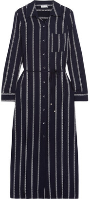 Splendid - Rope Striped Voile Midi Dress - Navy $195 thestylecure.com
